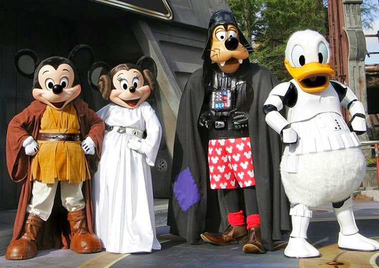 Personagens de Star Wars no parque Hollywood Studios da Disney Orlando