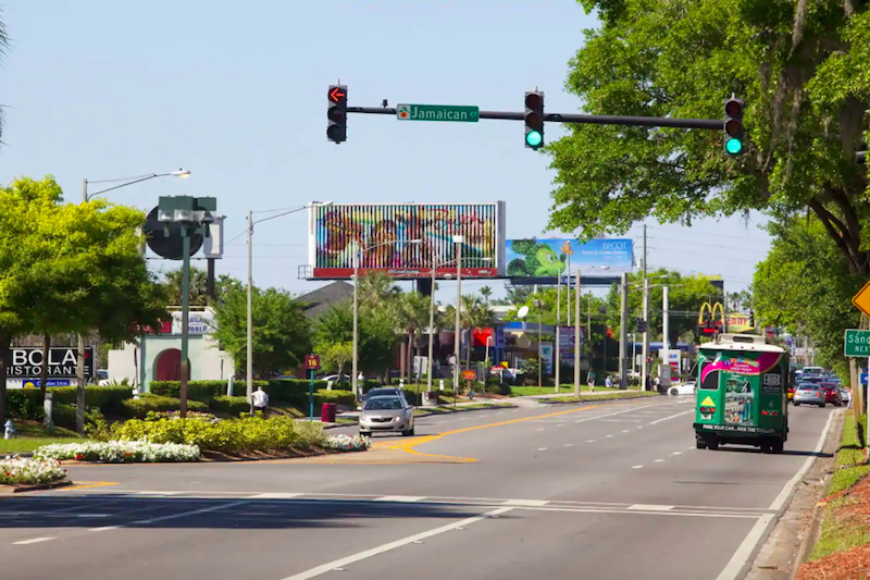 Avenida International Drive em Orlando