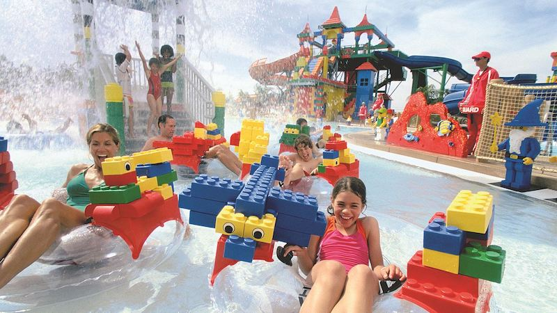Parque Legoland Water Park em Orlando: Build-A-Raft River