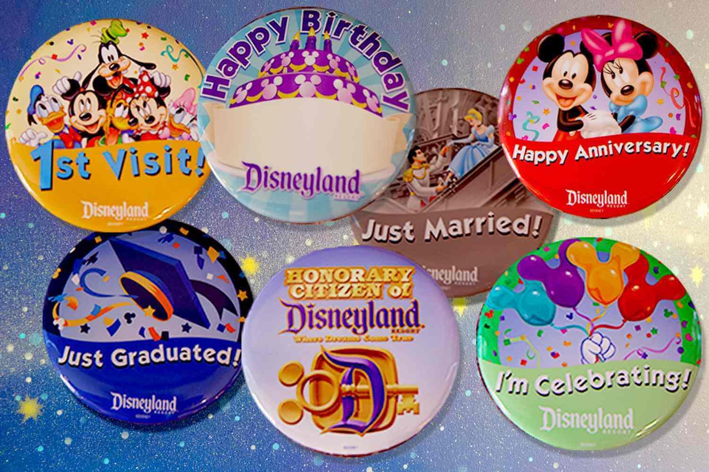 Coisas para fazer de graça na Disney Orlando: Buttons comemorativos da Disney