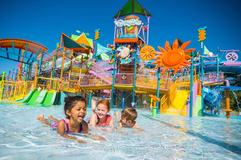 Parque Aquatica em Orlando: crianças