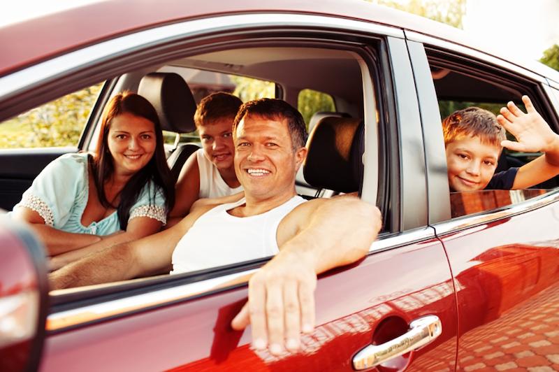 Aluguel de carro em Miami: família