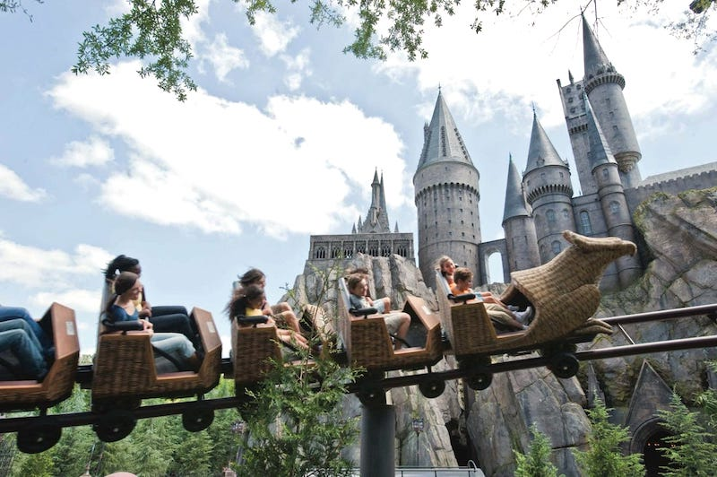 Flight of the Hippogriff no parque Islands of Adventure em Orlando