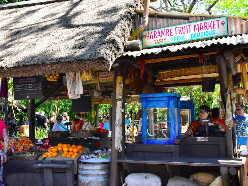 Parque Animal Kingdom da Disney Orlando: Harambe Fruit Market
