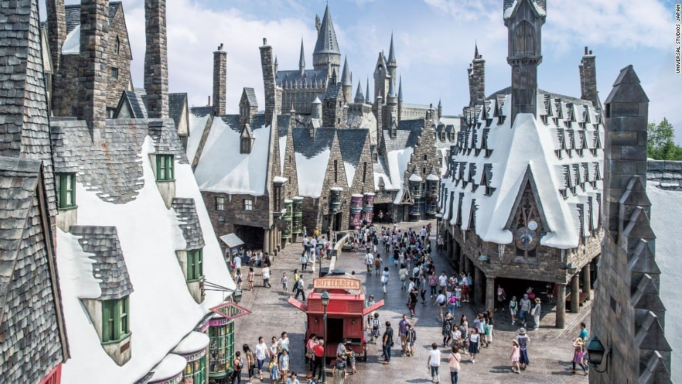 Área do Harry Potter no parque Universal Studios em Orlando