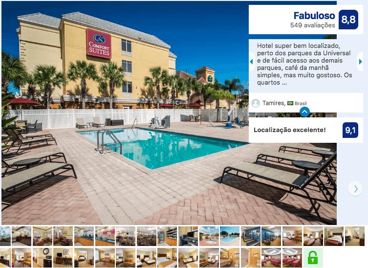 Dicas de hotéis em Orlando: Comfort Suites