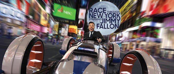 Jimmy Fallon Ride Race Through New York no parque Universal Studios em Orlando