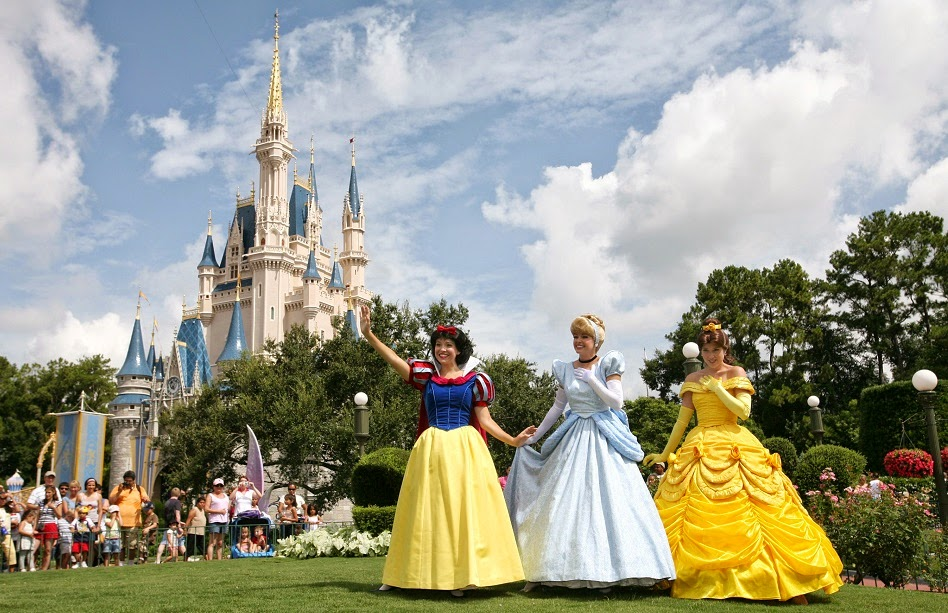 Princesas no parque Magic Kingdom da Disney Orlando