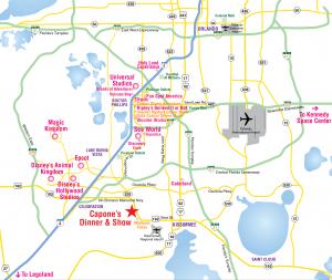 Mapa dos bairros e regiões de Orlando