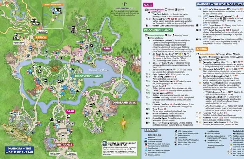 Parque Animal Kingdom da Disney Orlando: mapa do parque