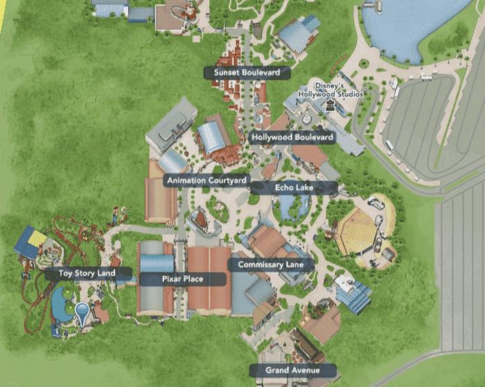 Parque Hollywood Studios da Disney Orlando: mapa do parque