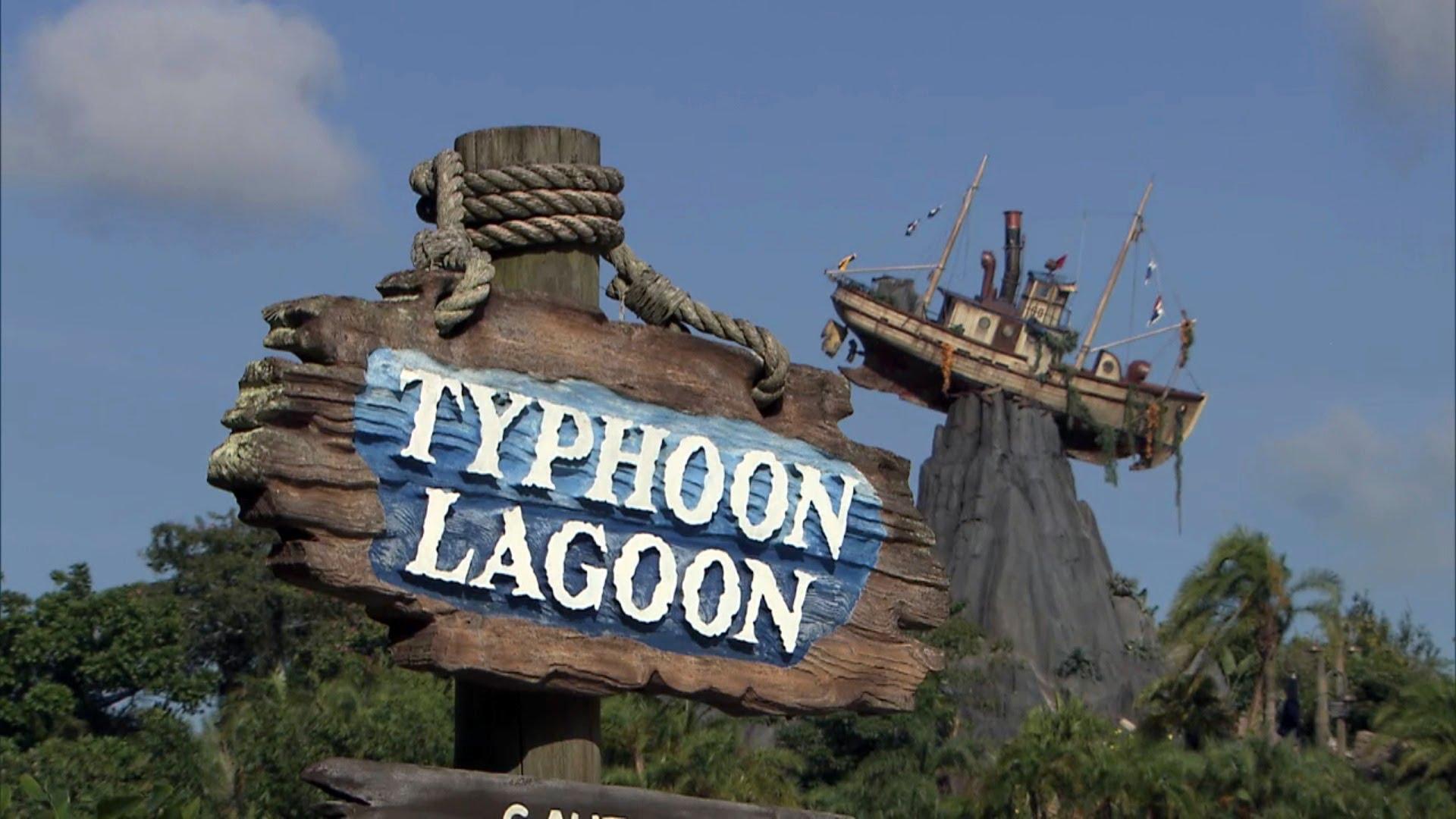 Parque Typhoon Lagoon da Disney Orlando: letreiro