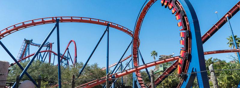 Parque Busch Gardens em Tampa: montanha-russa Scorpion