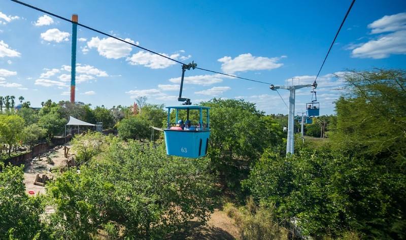 Parque Busch Gardens em Tampa: Skyride
