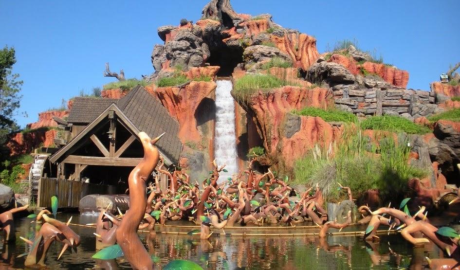 Splash Mountain no parque Magic Kingdom da Disney Orlando