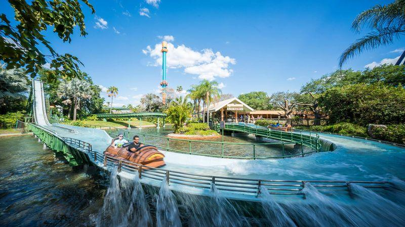 Parque Busch Gardens em Tampa: Stanley Falls Flume