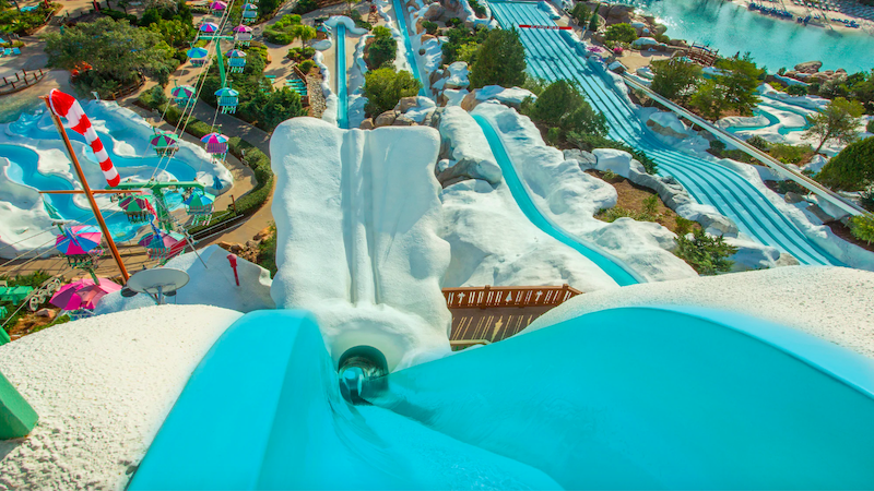 Parque Blizzard Beach da Disney Orlando: Summit Plummet