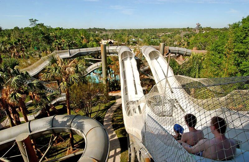 Parques aquáticos da Disney Orlando: tobogã no Disney's Typhoon Lagoon