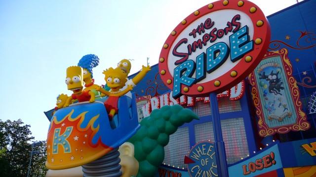 The Simpsons Ride no parque Universal Studios em Orlando