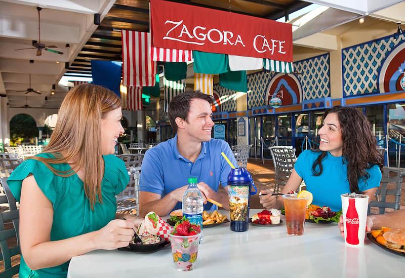 Parque Busch Gardens em Tampa: Zagora Café