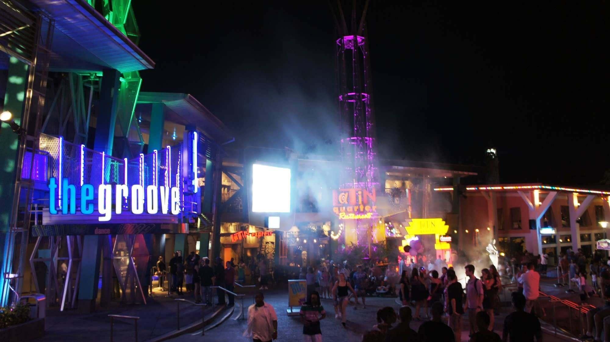 CityWalk Universal em Orlando: balada The Groove