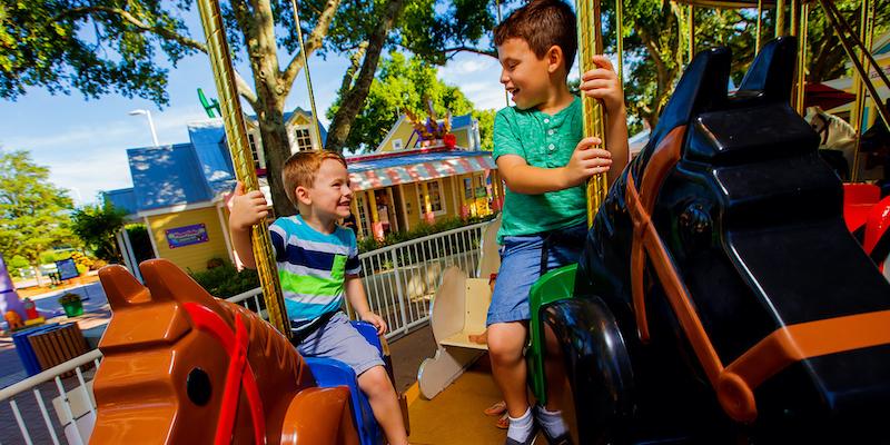 Parque Legoland da LEGO em Orlando: Duplo Valley e Fun Town