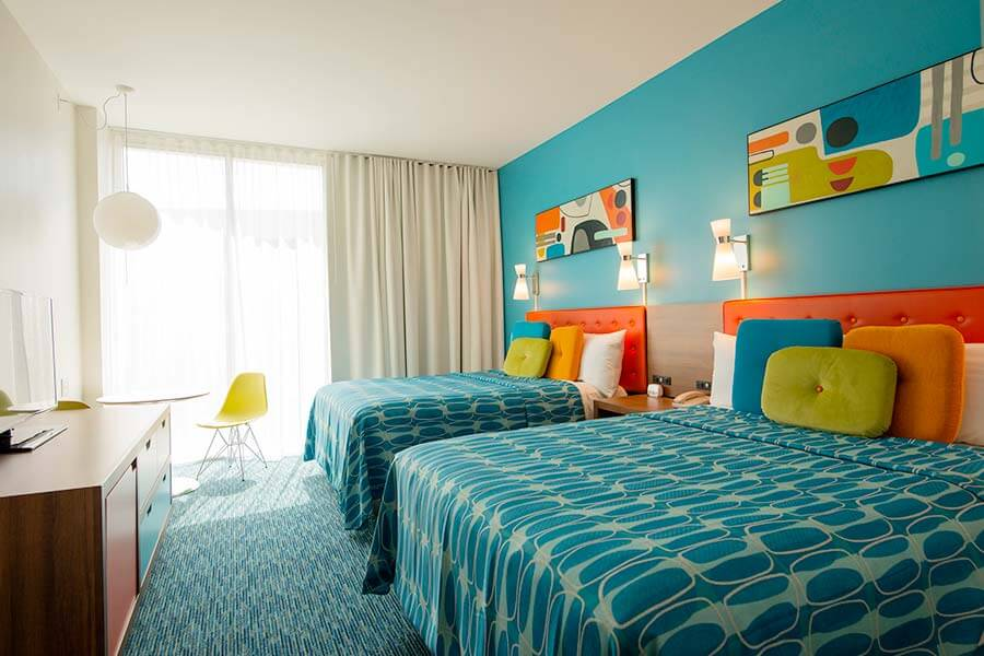 Quarto do hotel Universal's Cabana Bay Beach Resort em Orlando