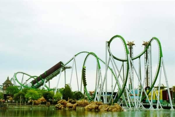 Parque Islands of Adventure Orlando: montanha-russa do Hulk