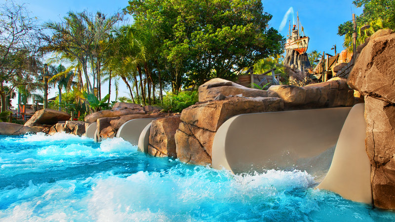 Parque Typhoon Lagoon da Disney Orlando: Storm Slides