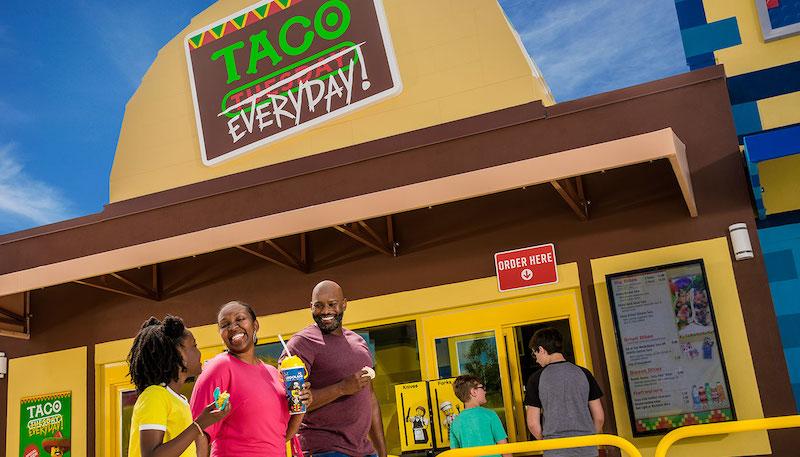 Parque Legoland da LEGO em Orlando: Taco Everyday