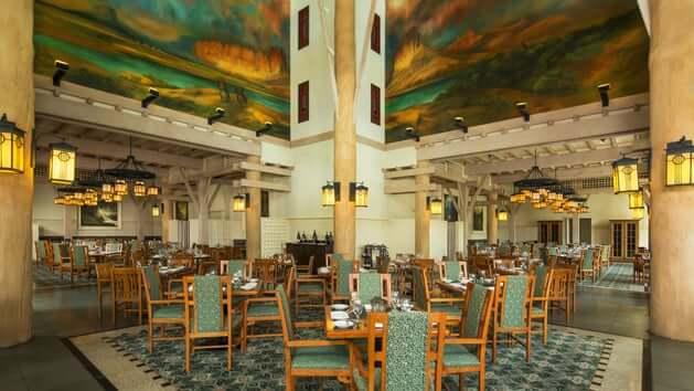Restaurante Artist Point na Disney em Orlando: interior do restaurante