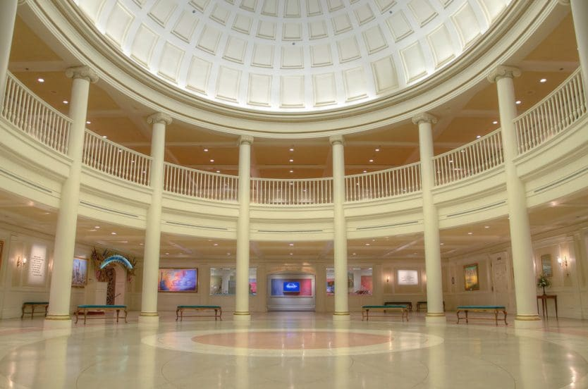 The American Adventure na Disney: interior do local