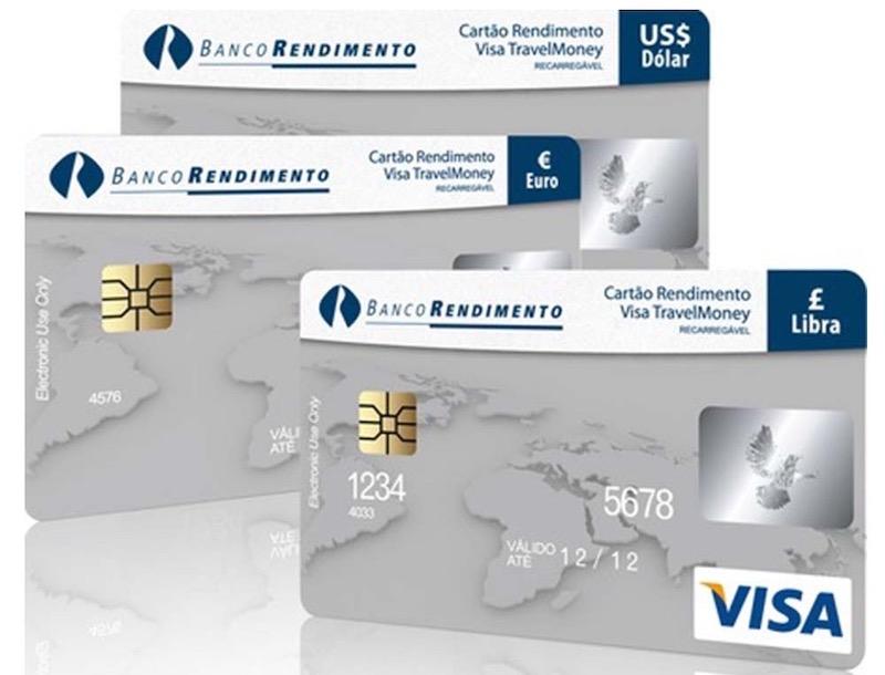 Cartão pré-pago internacional