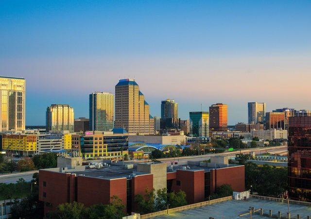 Paisagem de Downtown Orlando