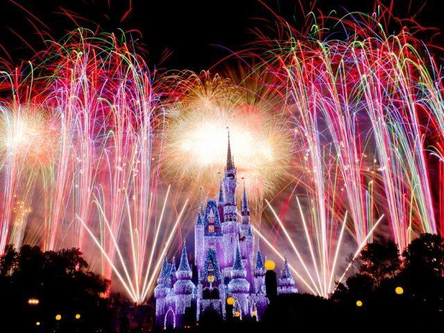 Show de fogos no Disney Magic Kingdom Orlando