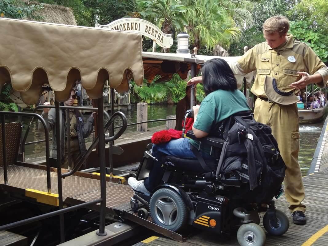 Deficientes físicos na Disney e Orlando: cadeira de rodas