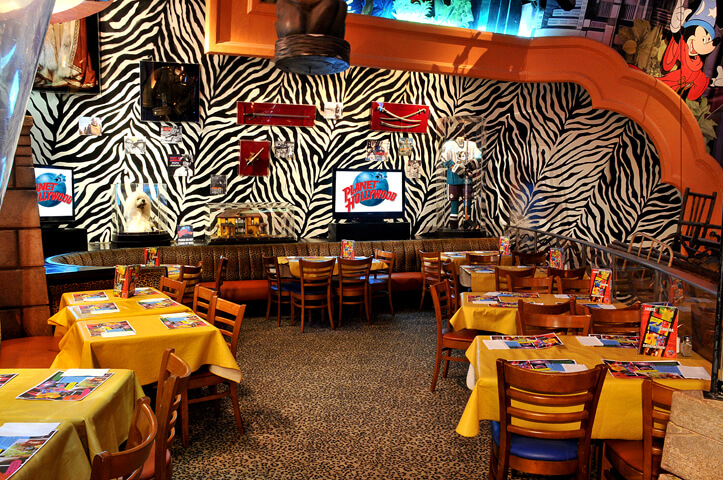 Restaurante Planet Hollywood na Disney Orlando: por dentro