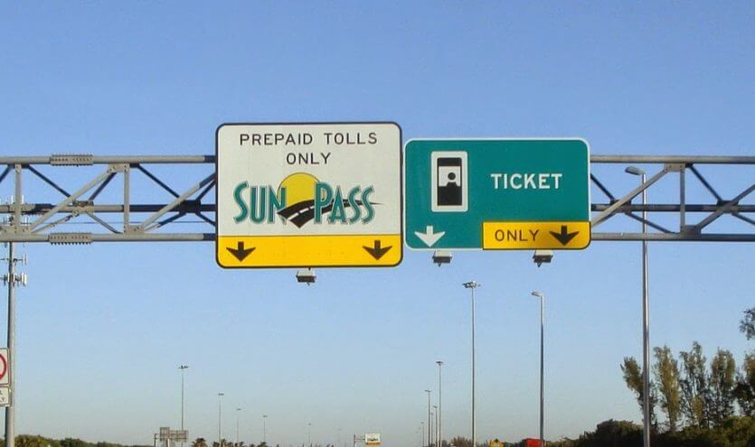 Sunpass e pedágios em Orlando: Sunpass