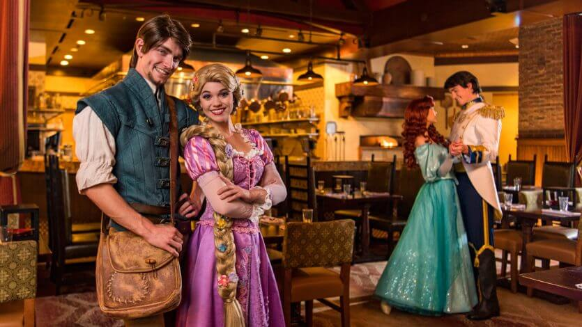 Restaurantes da Disney com personagens: Trattoria al Forno