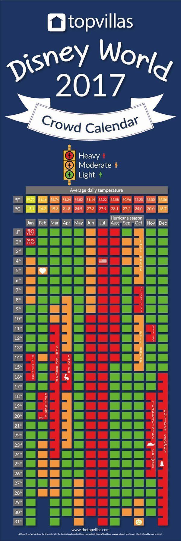 Calendário de lotação dos parques da Disney Orlando