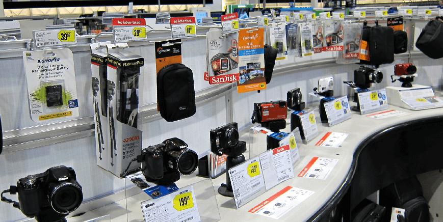 Câmeras fotográficas na Best Buy em Orlando