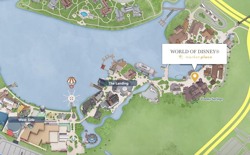 World of Disney, a maior loja Disney de Orlando: mapa