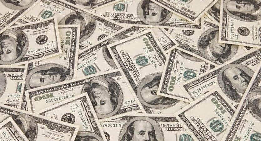 Notas de dólares em Miami