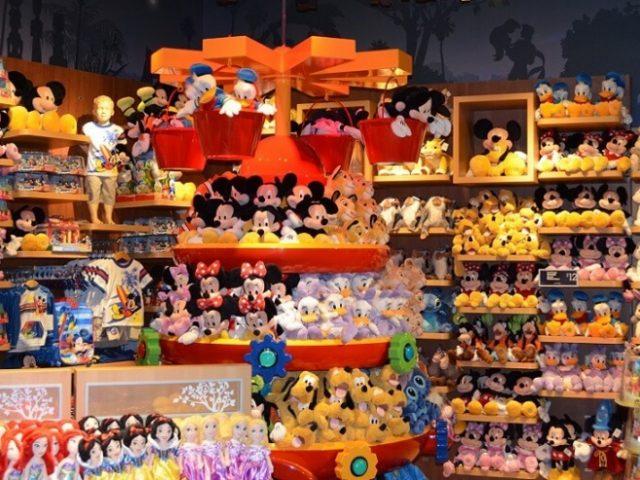 Produtos da loja Disney Store em Orlando