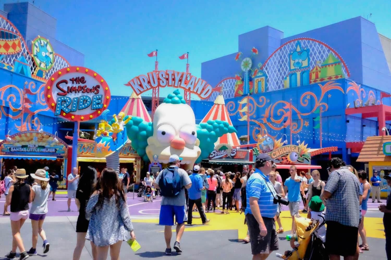 Área Springfield no parque Universal Studios em Orlando