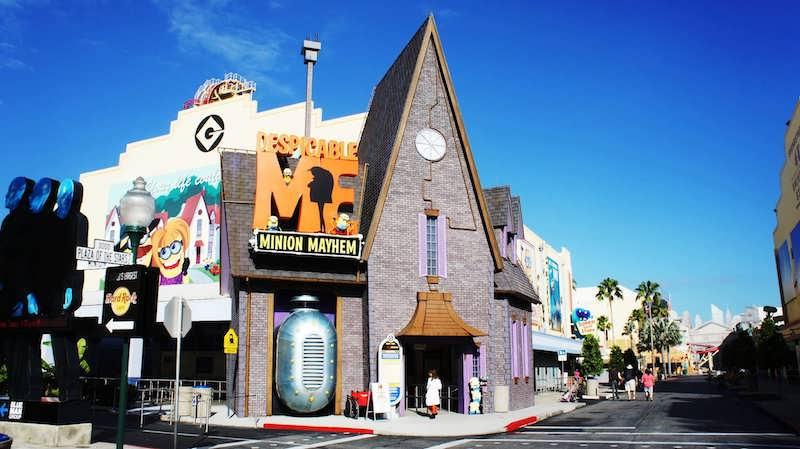 Despicable Me Minion Mayhem no parque Universal Studios em Orlando
