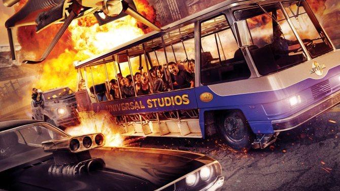 Atração de Velozes e Furiosos no Universal Studios Orlando