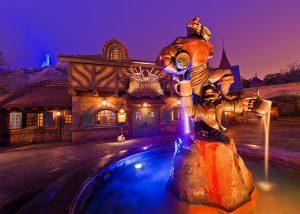 Castelo e atrações da Bela e a Fera na Disney Orlando