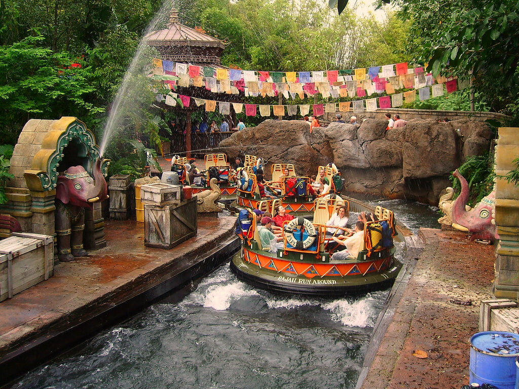 Kali River Rapids no parque Animal Kingdom da Disney Orlando