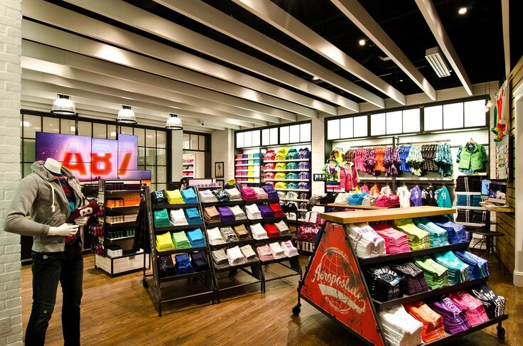 Lojas Aéropostale em Orlando: interior da loja